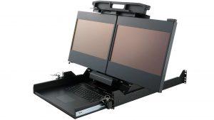 "Dual display rack mount monitor 17"" 2U"