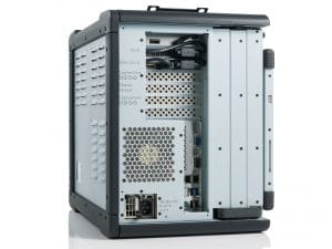 rugged portable computer server side view