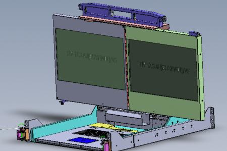 """17"""" double rack mount display 2U"""