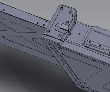 Three screen external display CAD detail - portable display