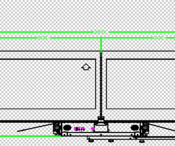 Double display rack dimensions