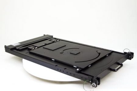 Big 1U rack mount display closed