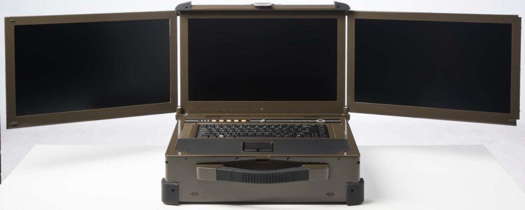 Triple screen laptop mil-spec